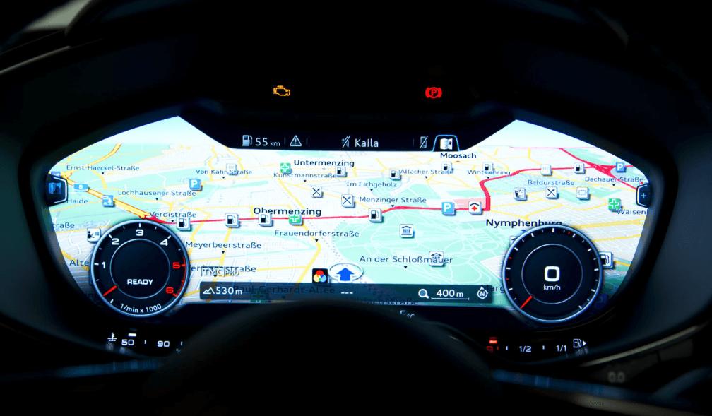 2014 新型Audi TTのメーターは、フルデジタルメーター (動画あり)