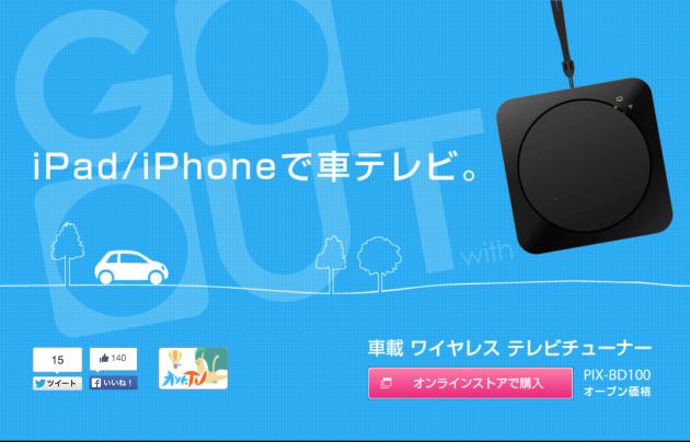 iPad / iPhoneで車テレビ