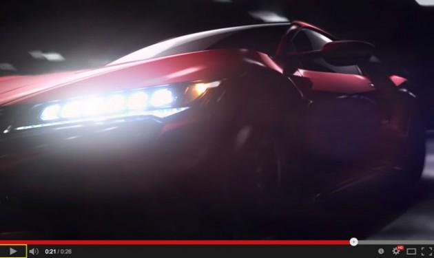 新型NSX チラ見せ映像 【Acura】