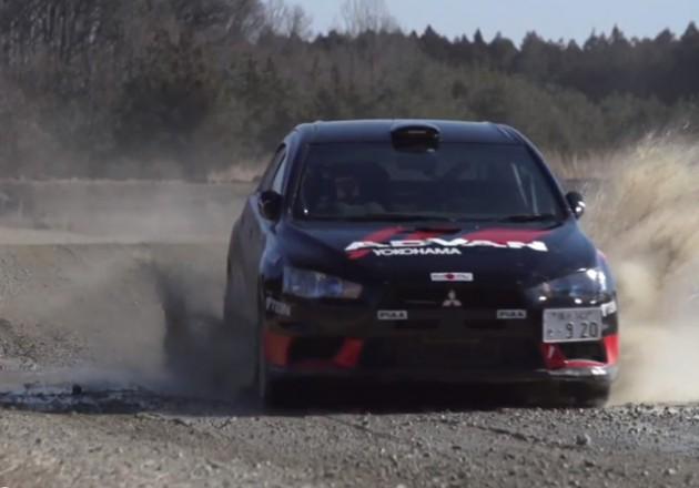 三菱 ランサーエボリューションX 全日本ラリー選手権2014【動画あり】