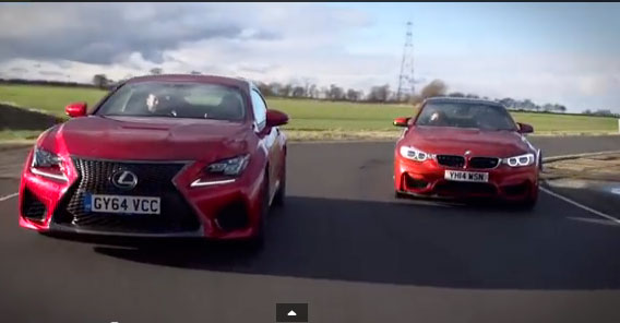 LEXUS RC−F VS BMW M4 【動画あり】