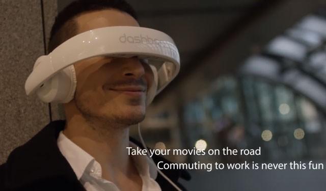 ヘッドホンと一緒にモニターも持ち歩こう 「Dashbon Mask」