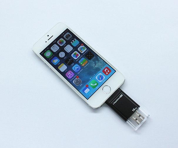 Apple公認 iPhone・iPad 持ち運び可能外部メモリ「i-FlashDrive EVO」