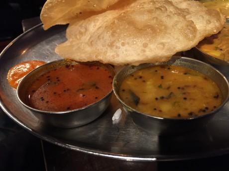 Dhaba India-tokyo-サンバルカレー-ラッサムスープ